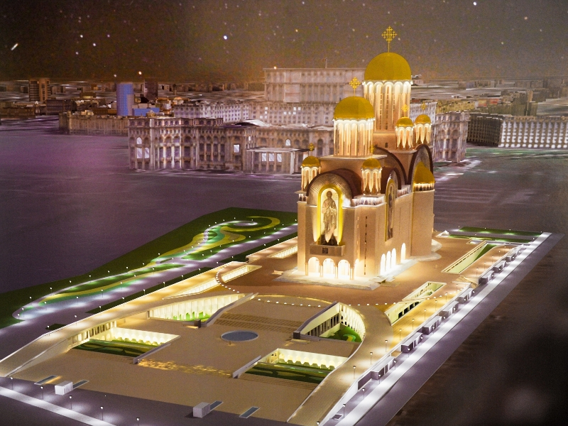 Bucharest, People's Salvation Cathedral rendering. It will be ten meters higher than People's Palace close by